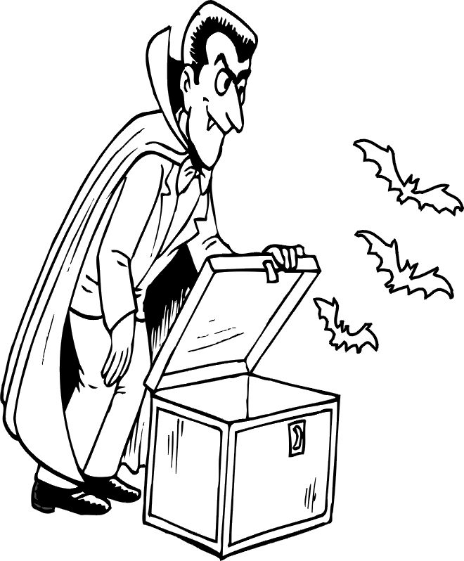 Halloween Coloring Pages Bats 38