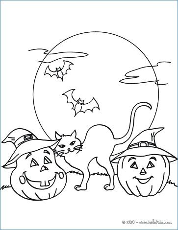 Halloween Coloring Pages Bats 4