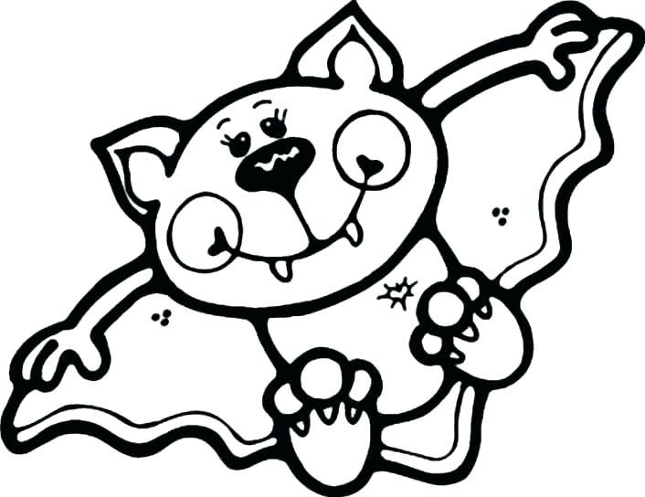Halloween Coloring Pages Bats 41