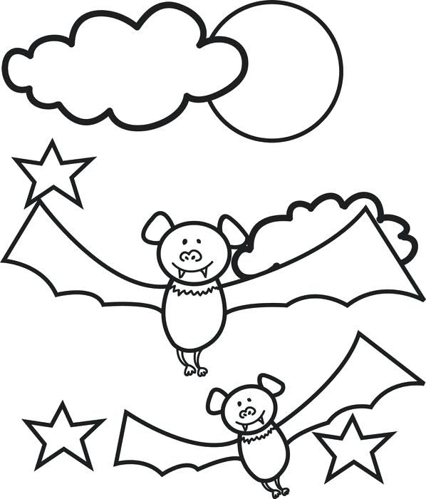 Halloween Coloring Pages Bats 42