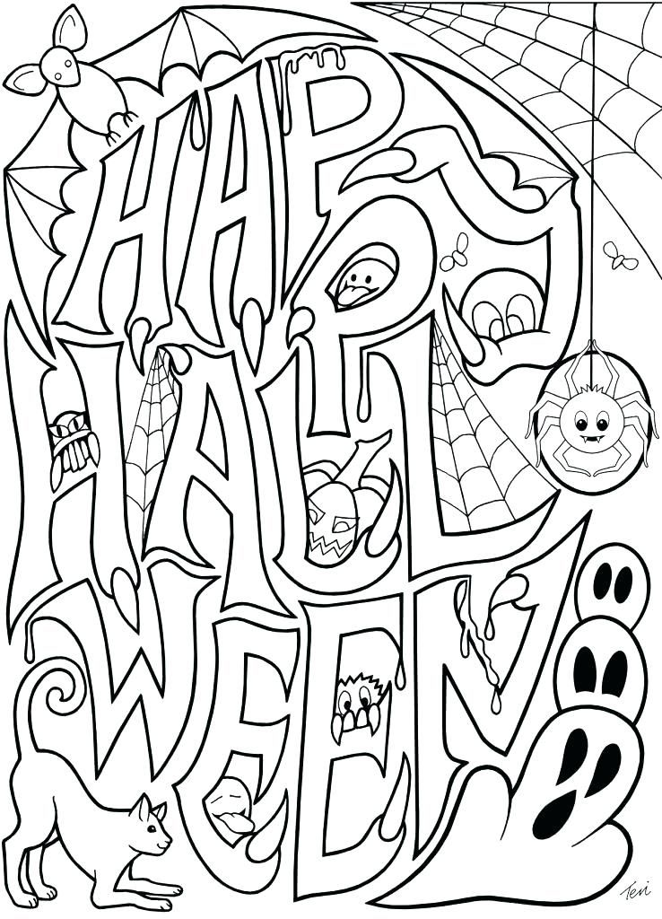 Halloween Coloring Pages Bats 43