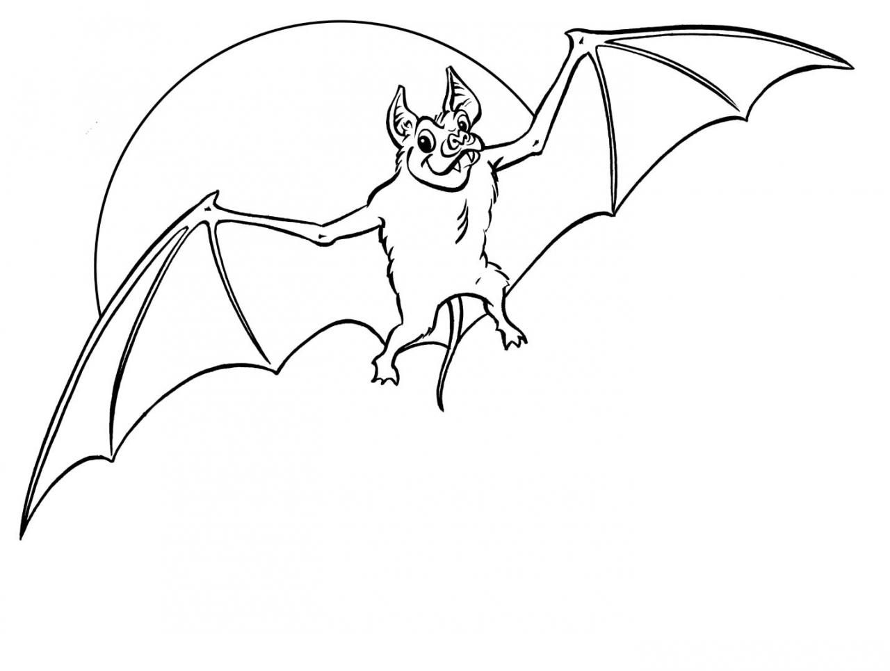 Halloween Coloring Pages Bats 44