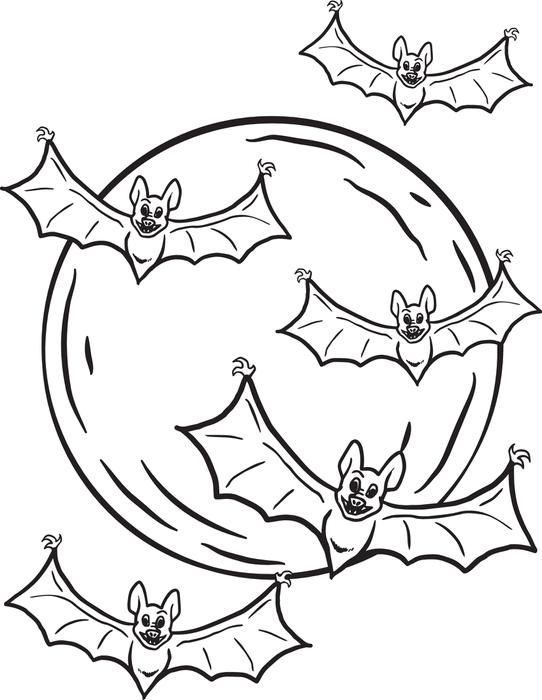 Halloween Coloring Pages Bats 5
