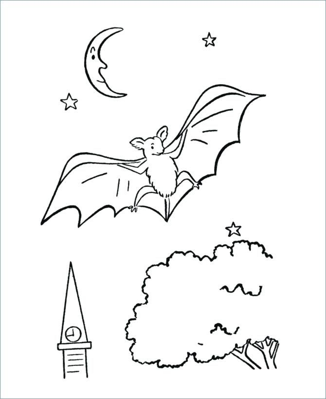 Halloween Coloring Pages Bats 6