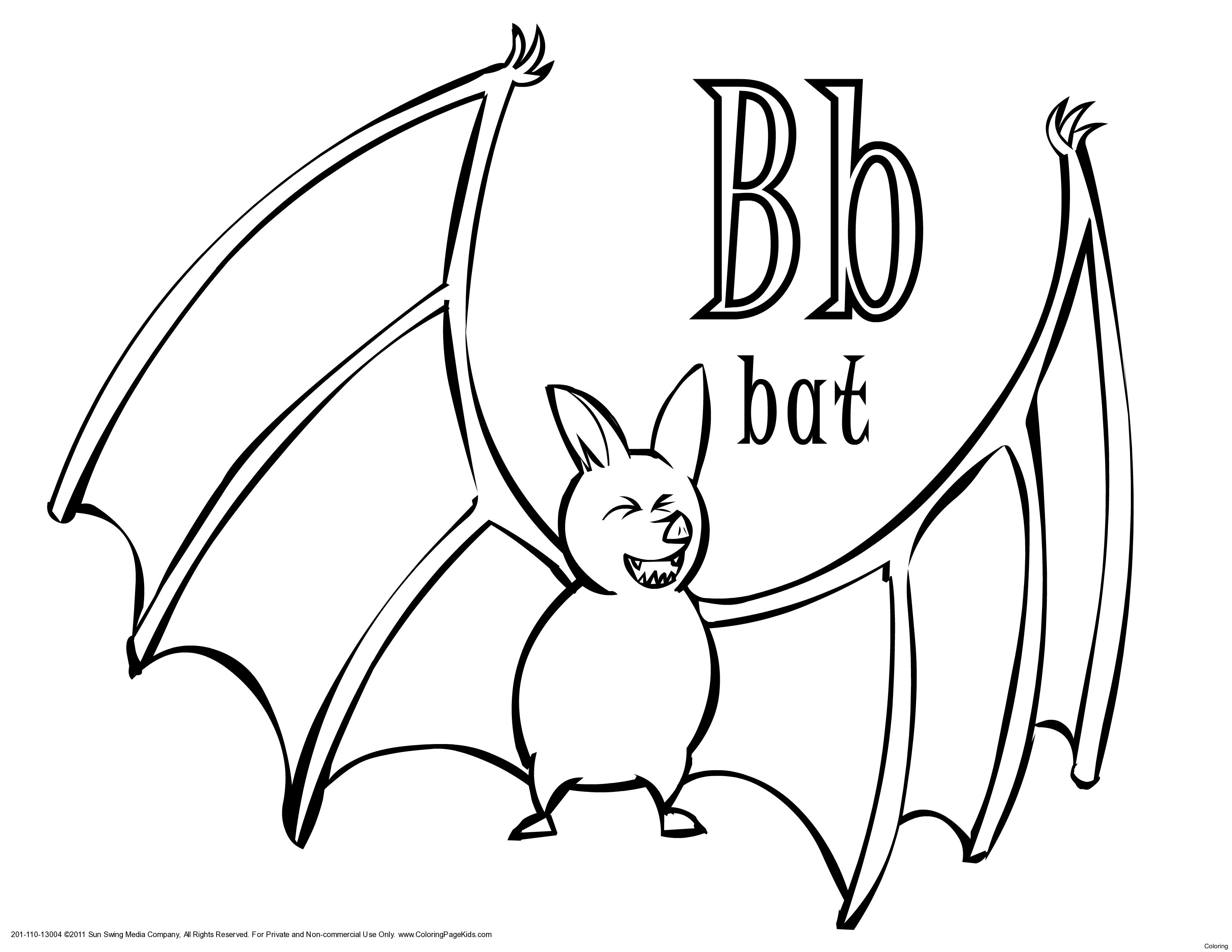 Halloween Coloring Pages Bats 7