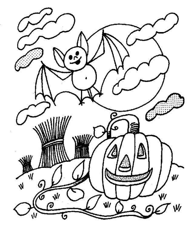 Halloween Coloring Pages Bats 8