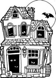 Halloween Coloring Pages Haunted House 15
