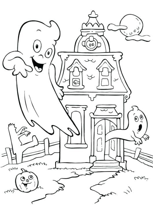 Halloween Coloring Pages Haunted House 16