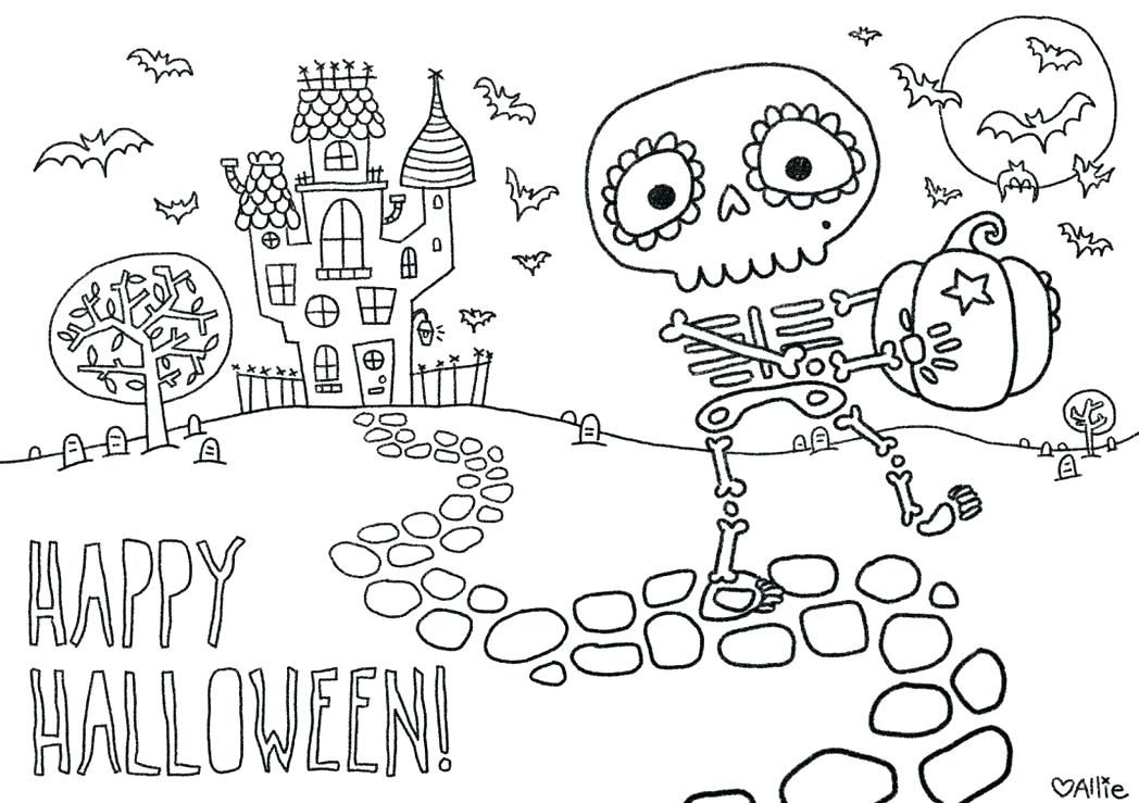 Halloween Coloring Pages Haunted House 17