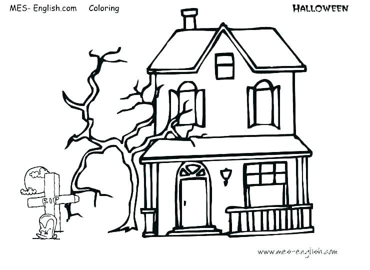Halloween Coloring Pages Haunted House 19