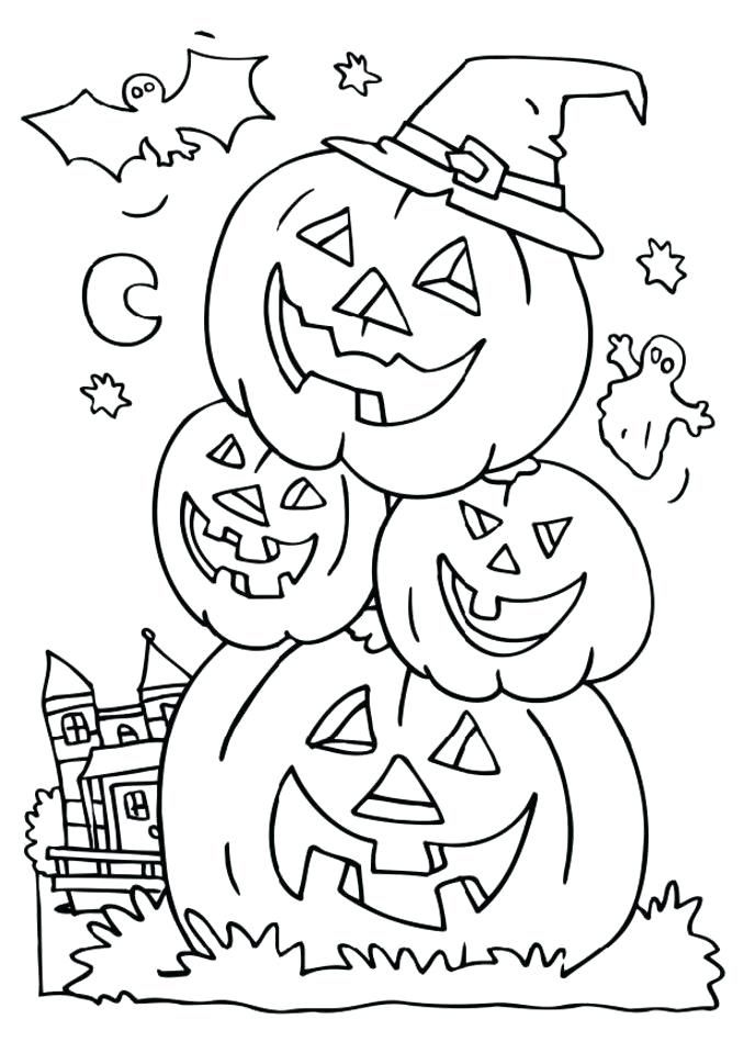 Halloween Coloring Pages Haunted House 21