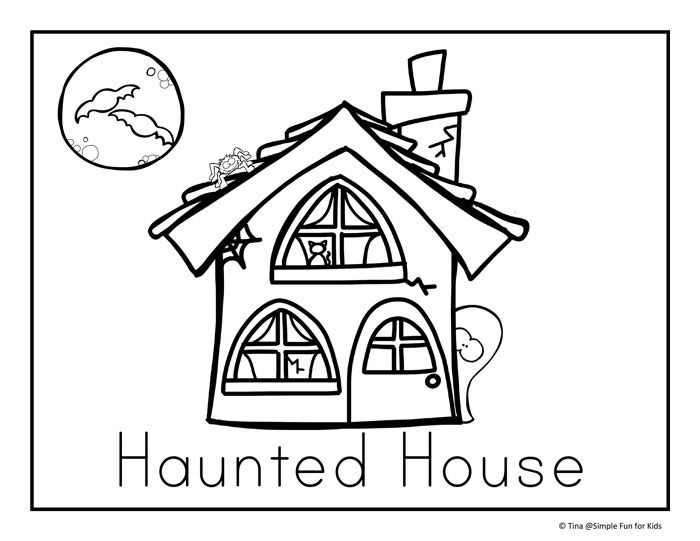 Halloween Coloring Pages Haunted House 22