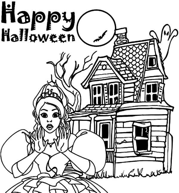 Halloween Coloring Pages Haunted House 28