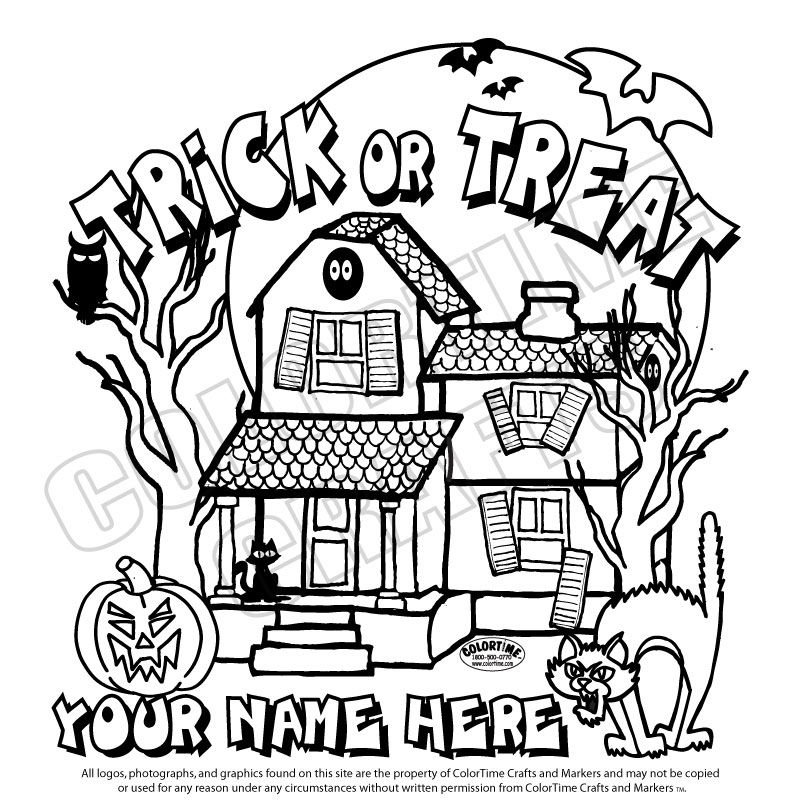 Halloween Coloring Pages Haunted House 31