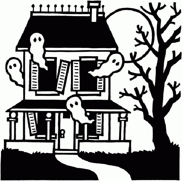 Halloween Coloring Pages Haunted House 32