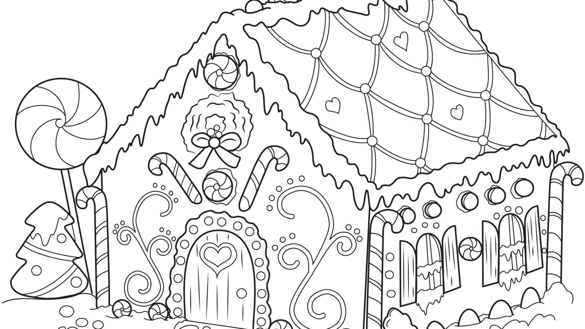 Halloween Coloring Pages Haunted House 36