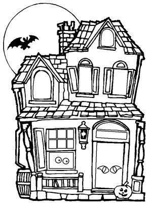 Halloween Coloring Pages Haunted House 39