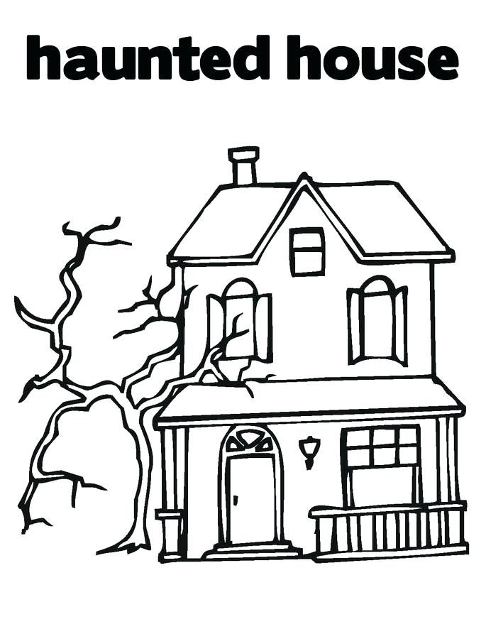 Halloween Coloring Pages Haunted House 48