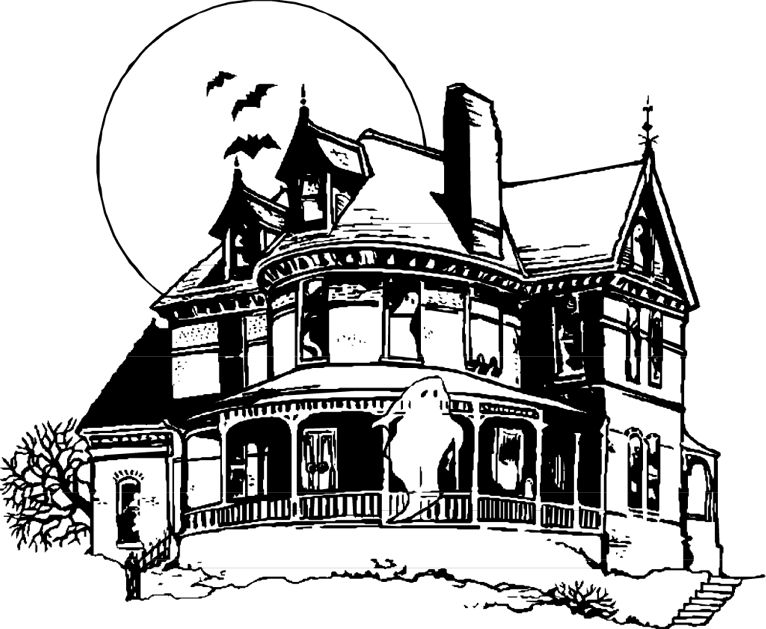 Halloween Coloring Pages Haunted House 49