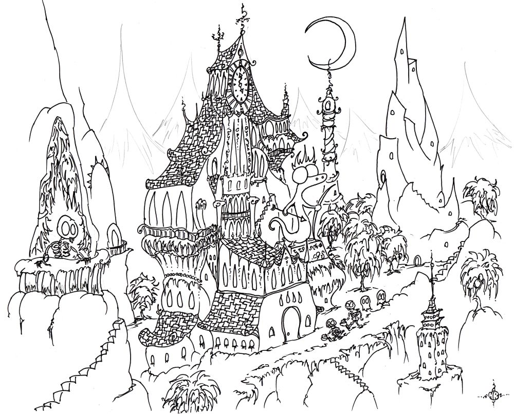 Halloween Coloring Pages Haunted House 7