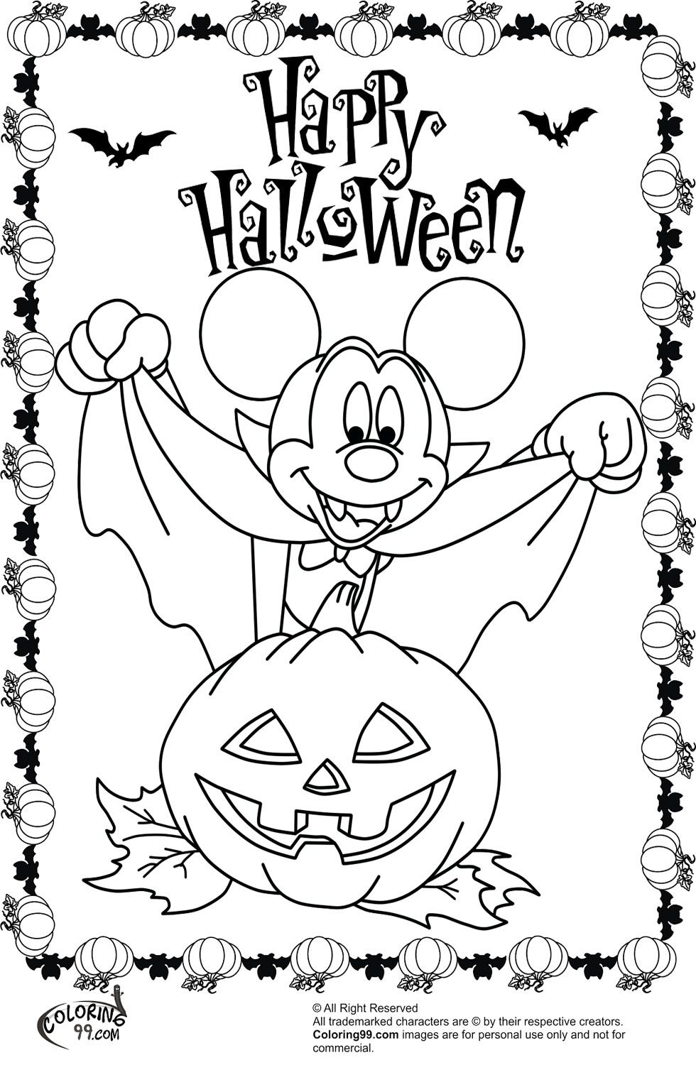 Halloween Coloring Pages Vampire 12