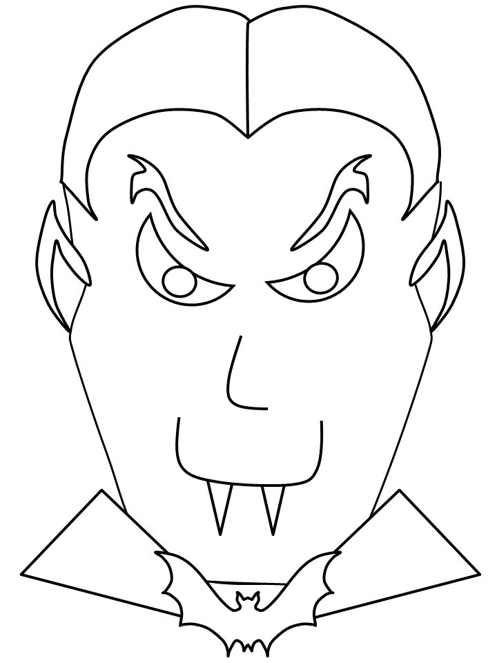 Halloween Coloring Pages Vampire 19