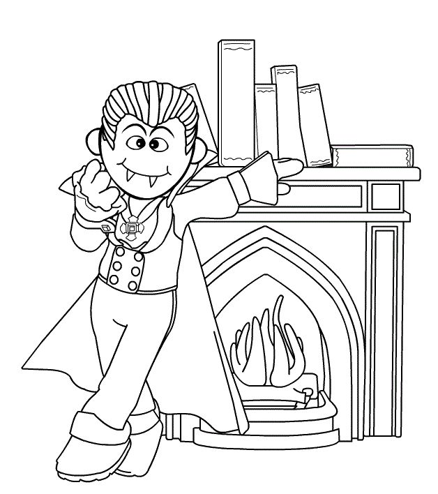 Halloween Coloring Pages Vampire 2
