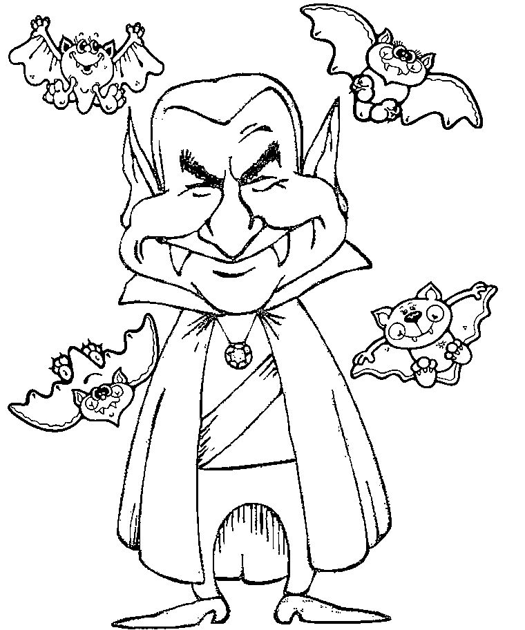 Halloween Coloring Pages Vampire 22
