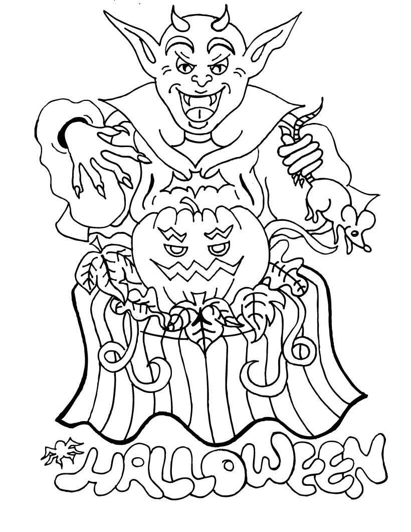 Halloween Coloring Pages Vampire 25