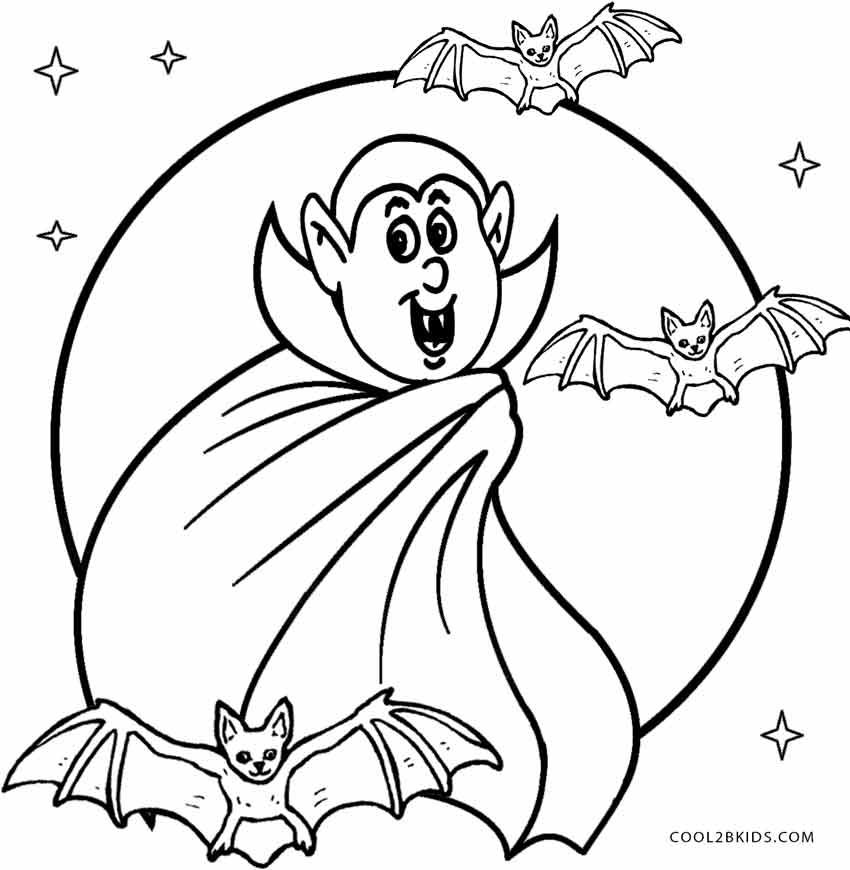 Halloween Coloring Pages Vampire 28