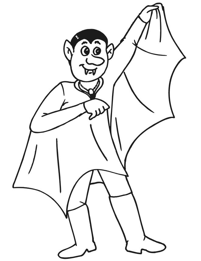 Halloween Coloring Pages Vampire 29