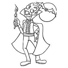 Halloween Coloring Pages Vampire 3