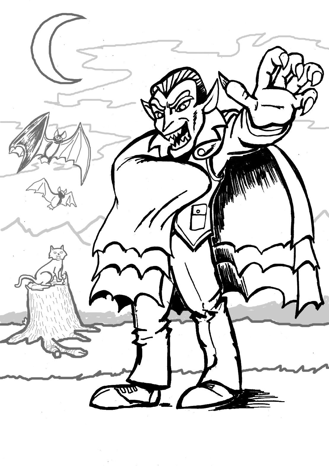 Halloween Coloring Pages Vampire 30