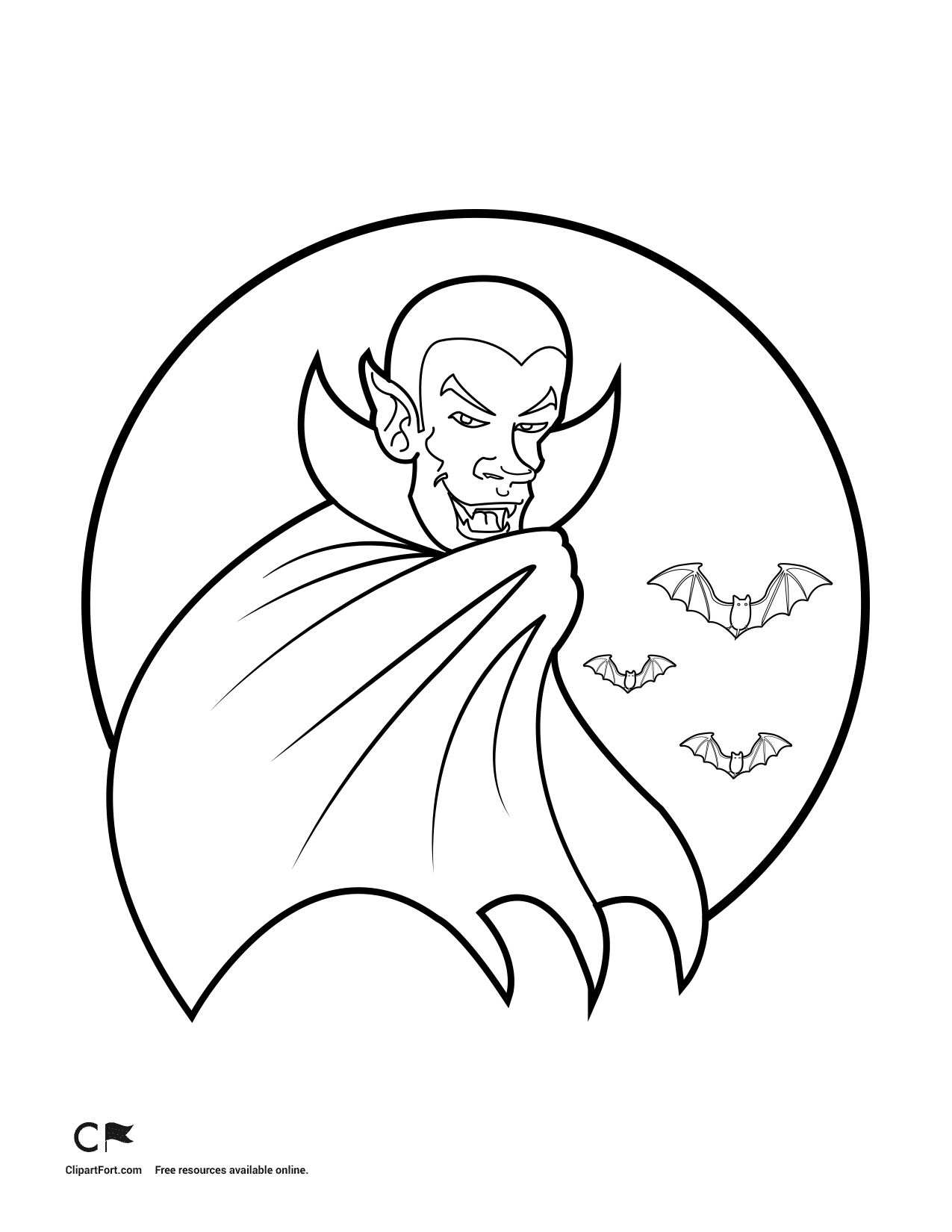 Halloween Coloring Pages Vampire 38