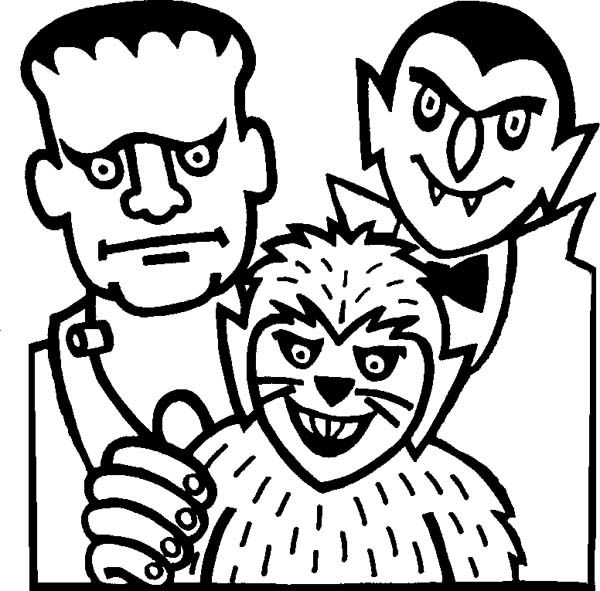 Halloween Coloring Pages Vampire 43