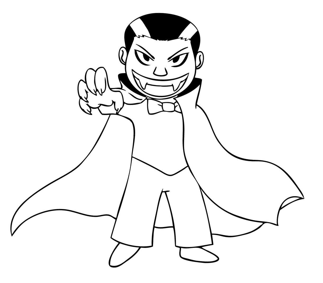 Halloween Coloring Pages Vampire 5