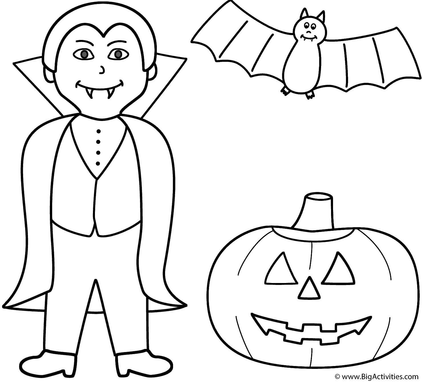 Halloween Coloring Pages Vampire 6