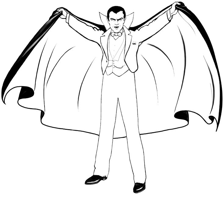 Halloween Coloring Pages Vampire 9