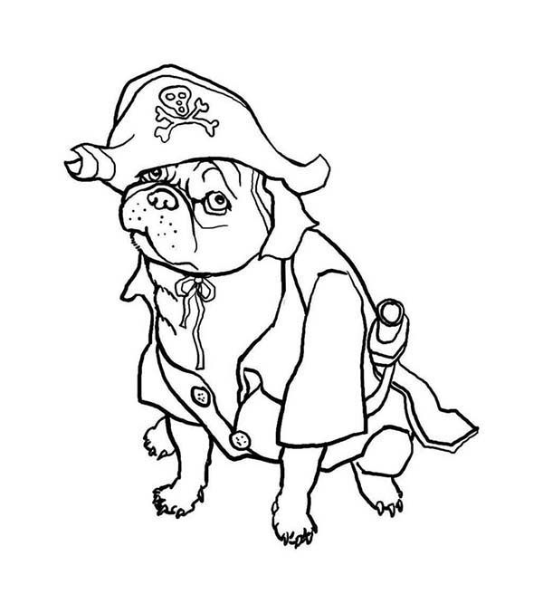 Halloween Dog Coloring Pages 1