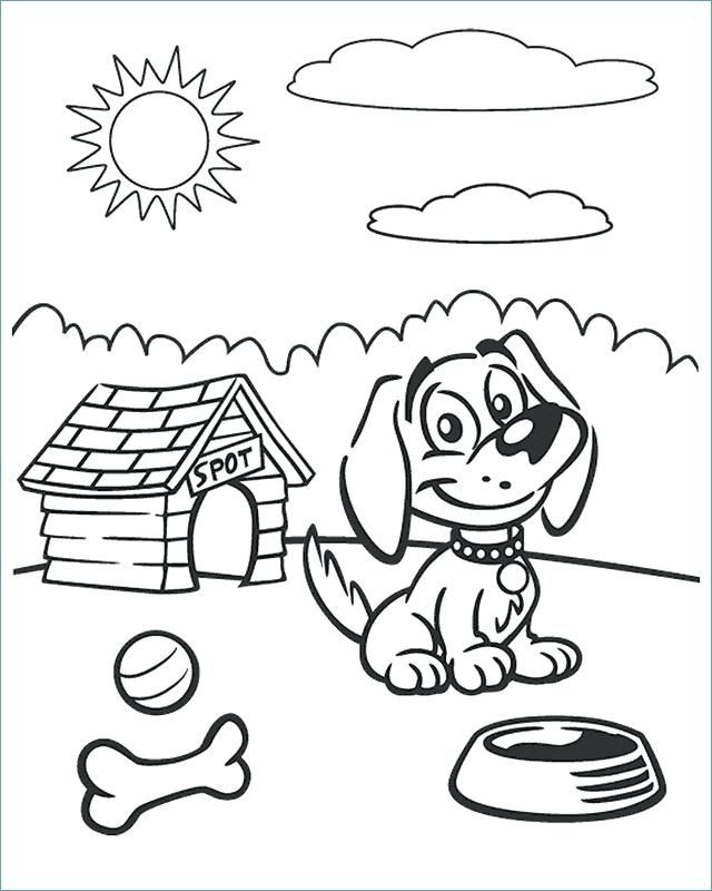 Halloween Dog Coloring Pages 16