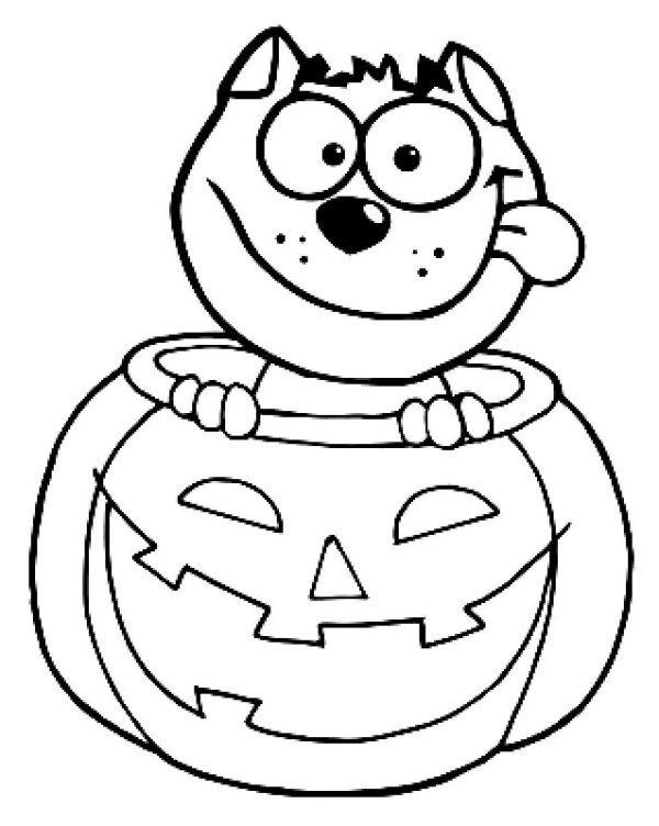 Halloween Dog Coloring Pages 17