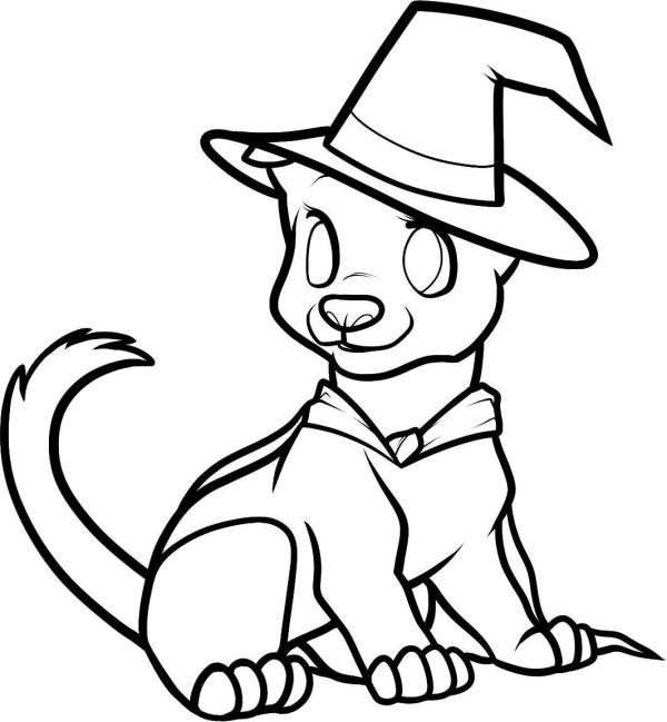 Halloween Dog Coloring Pages 19