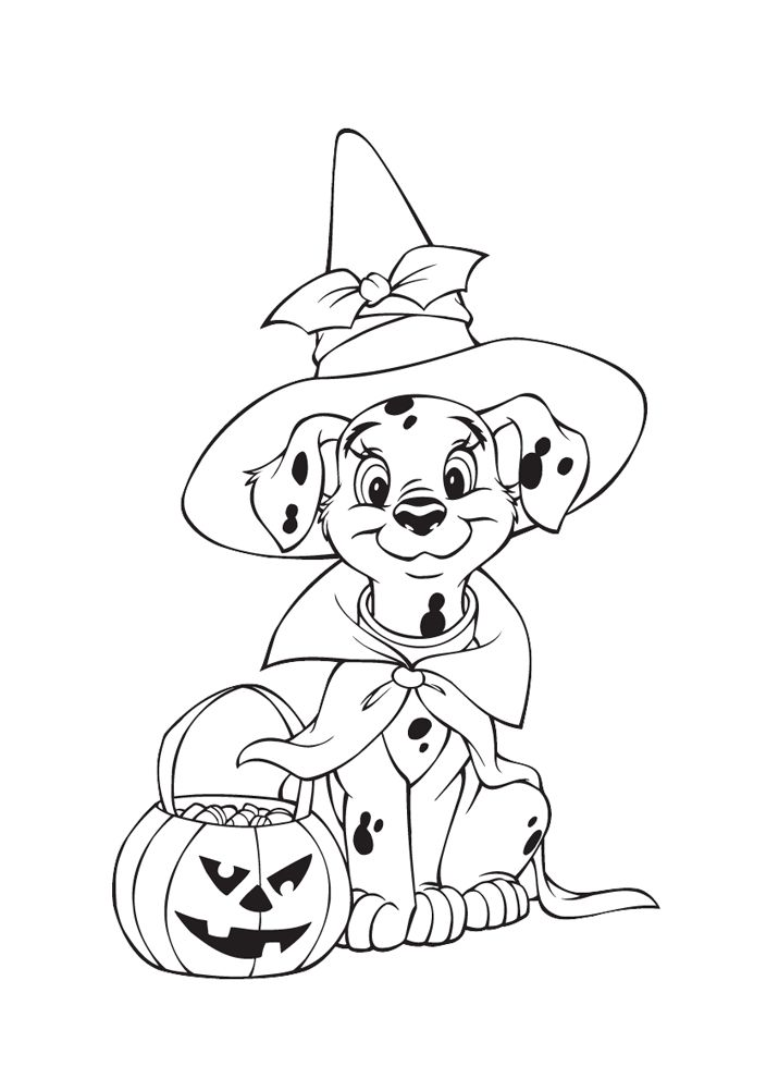 Halloween Dog Coloring Pages 20