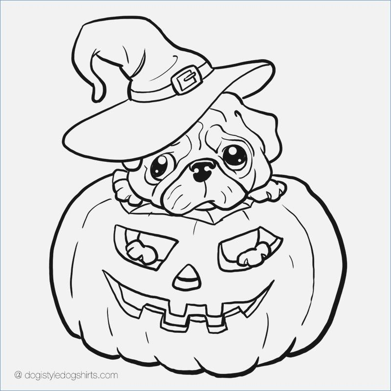 Halloween Dog Coloring Pages 22