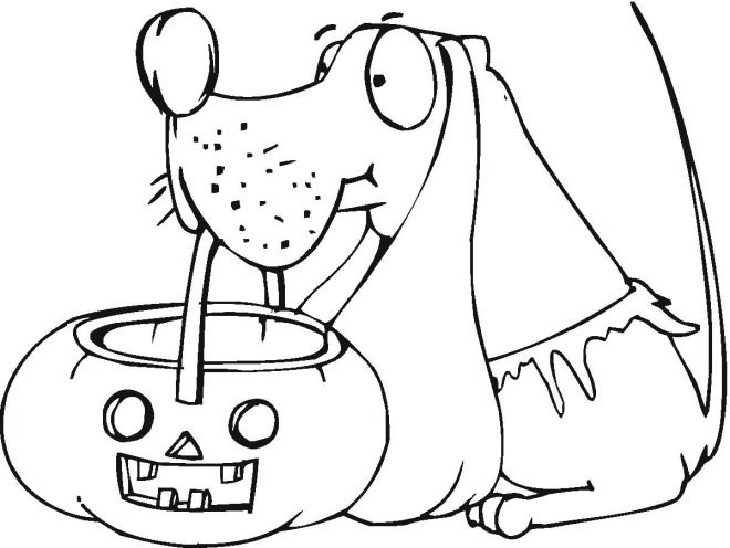 Halloween Dog Coloring Pages 25