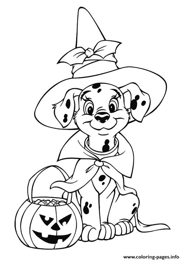 Halloween Dog Coloring Pages 4