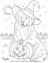 Halloween Dog Coloring Pages 8