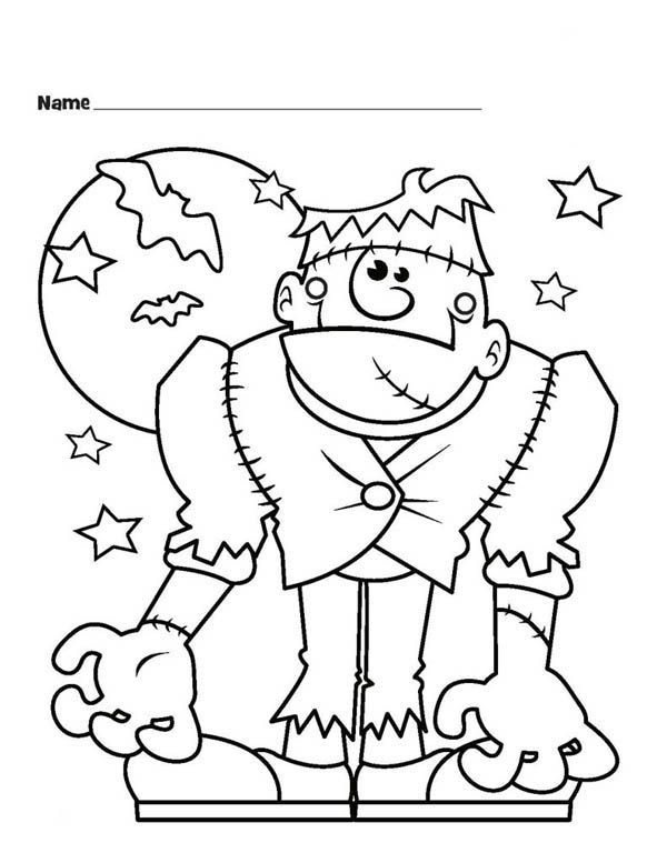 Halloween Frankenstein Coloring Pages 13