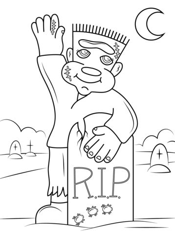 Halloween Frankenstein Coloring Pages 14