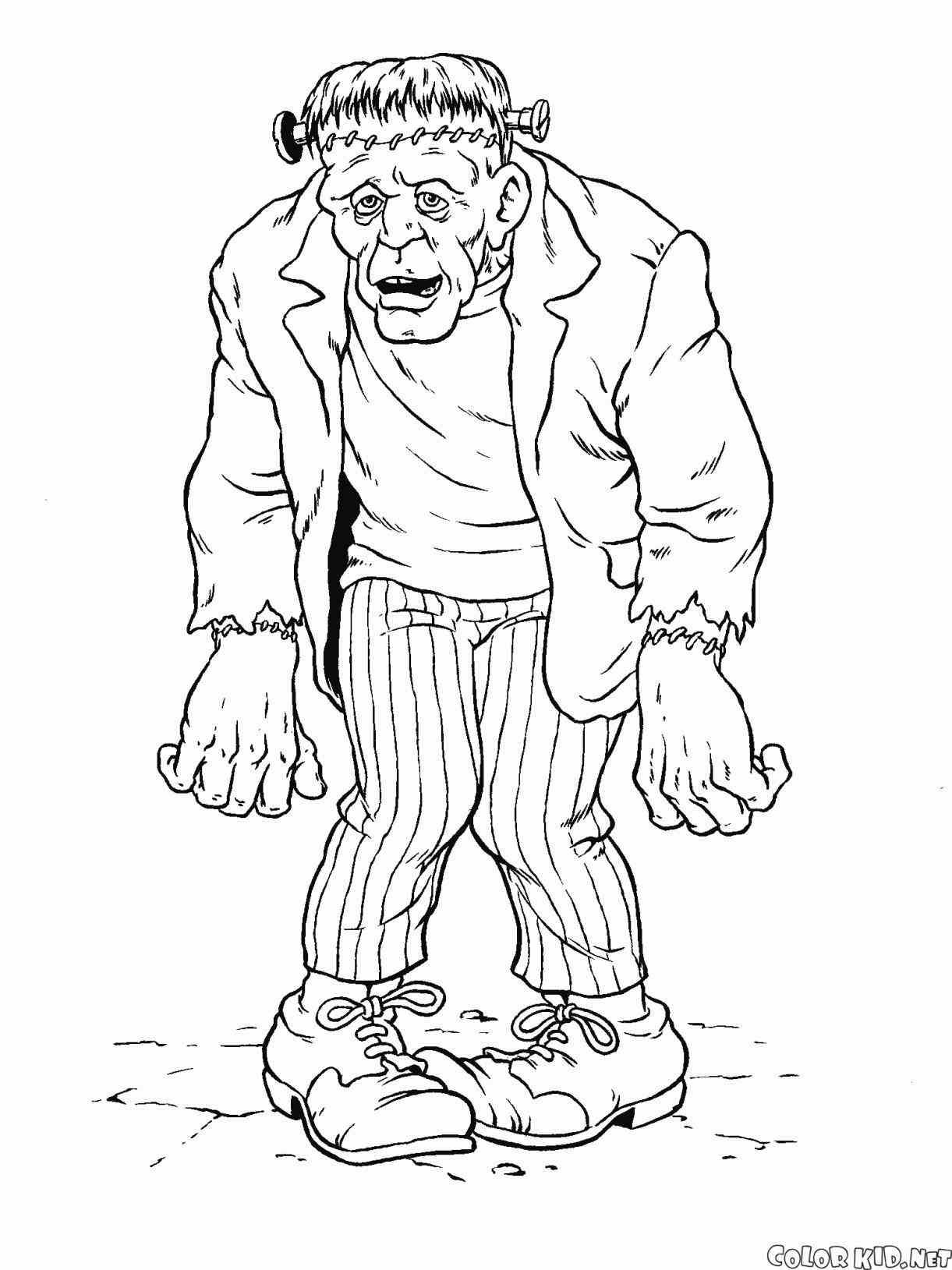 Halloween Frankenstein Coloring Pages 16